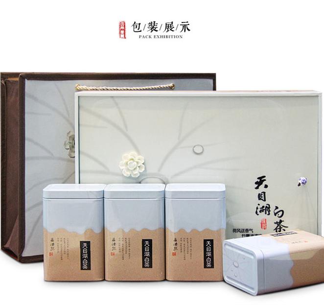 【2017年春茶】六雨 新茶2017春茶溧阳白茶天目湖特产绿茶礼盒茶叶250g